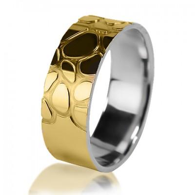 Комбинированное обручальное кольцо 750-2V016