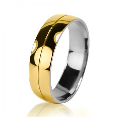 Мужское обручальное кольцо  750-2V032