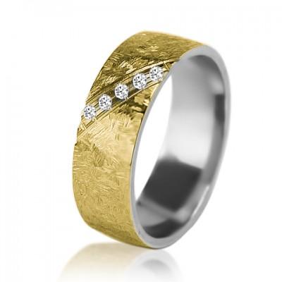 Женское обручальное кольцо с бриллиантом 751-2V004