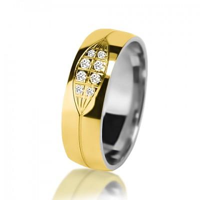 Женское обручальное кольцо с бриллиантом 751-2V032