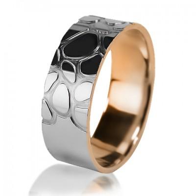 Комбинированное обручальное кольцо 850-2V016