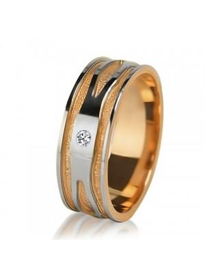 Женское обручальное кольцо с бриллиантом 851-2V013