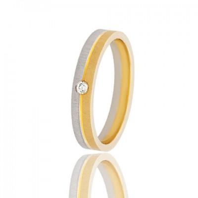 Золотое обручальное кольцо 951-2C058