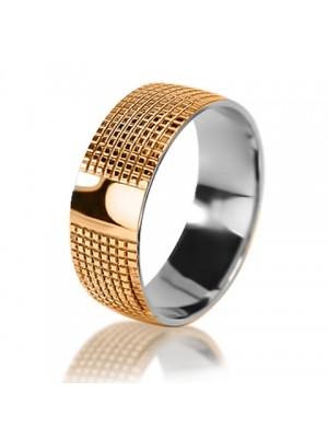 Мужское обручальное кольцо 950-2V010