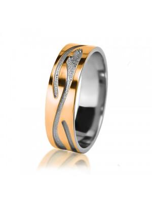 Мужское обручальное кольцо 950-2V012