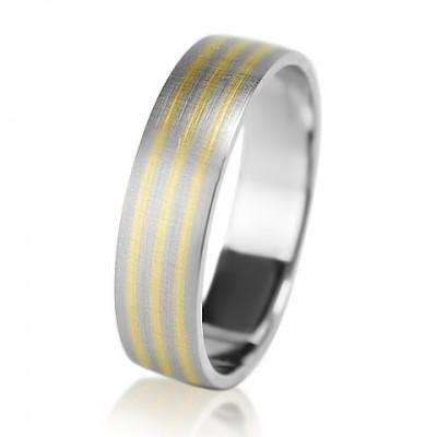 Мужское обручальное кольцо 950-2V030