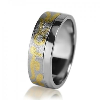 Мужское обручальное кольцо 950-2V034