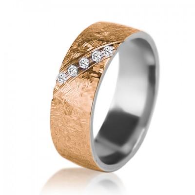 Женское обручальное кольцо с бриллиантом 951-2V004