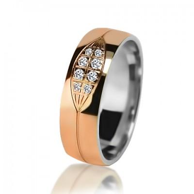 Женское обручальное кольцо с бриллиантом 951-2V032