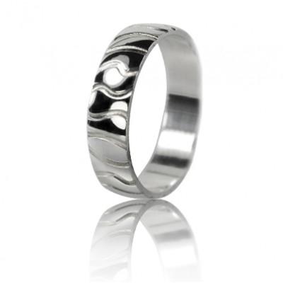 Мужское обручальное кольцо 550-2F008 ♂