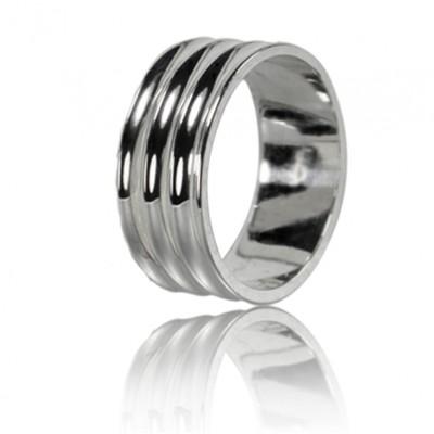 Мужское обручальное кольцо 550-2F010 ♂