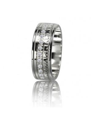 Женское обручальное кольцо с бриллиантом 551-2F011 ♀