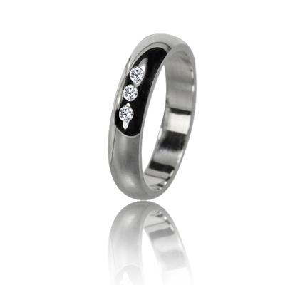 Женское обручальное кольцо с бриллиантом 551-2F015 ♀