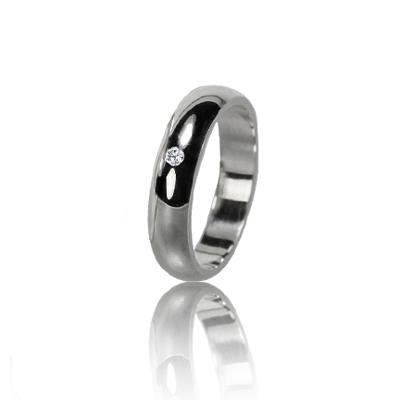 Женское обручальное кольцо с бриллиантом 551-2F015M ♀