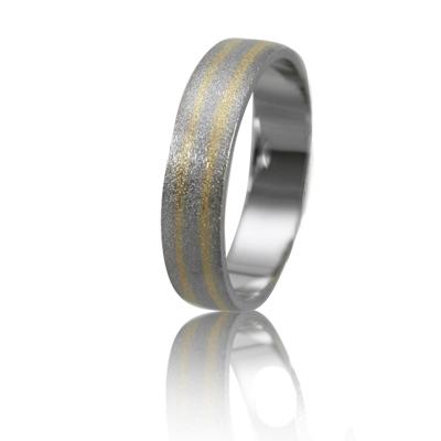 Мужское обручальное кольцо 950-2V021 ♂