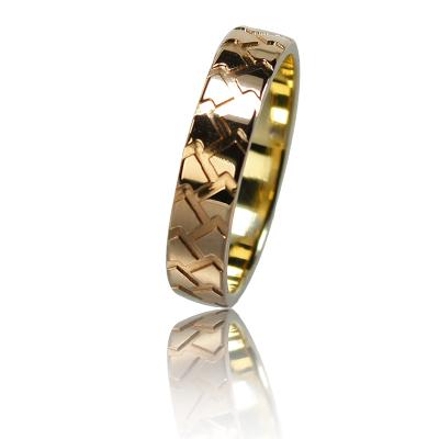 Мужское обручальное кольцо 150-2V036 ♂