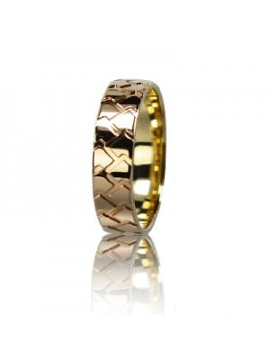 Мужское обручальное кольцо 150-2V036M