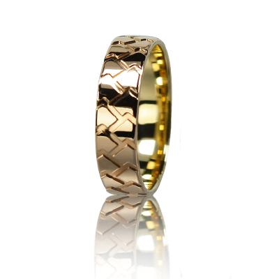 Мужское обручальное кольцо 150-2V036M ♂