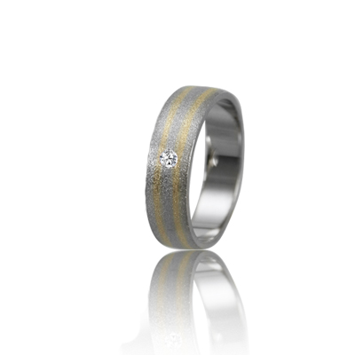Женское обручальное кольцо с бриллиантом 951-2V021 ♀