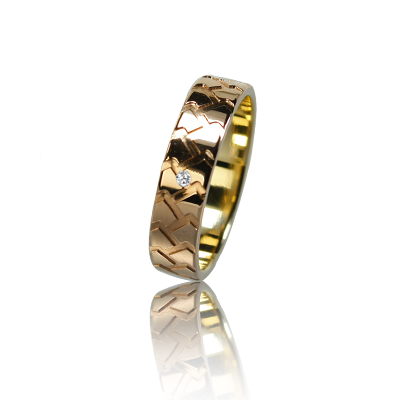 Женское обручальное кольцо с бриллиантом 151-2V036 ♀