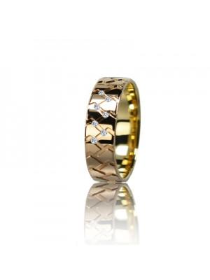 Женское обручальное кольцо с бриллиантом 151-2V036M ♀