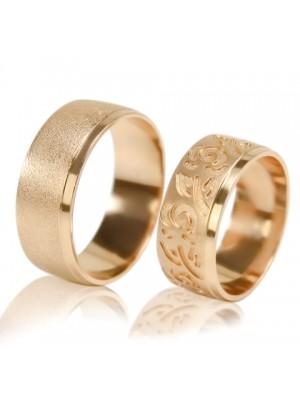 Широкие обручальные кольца V024M