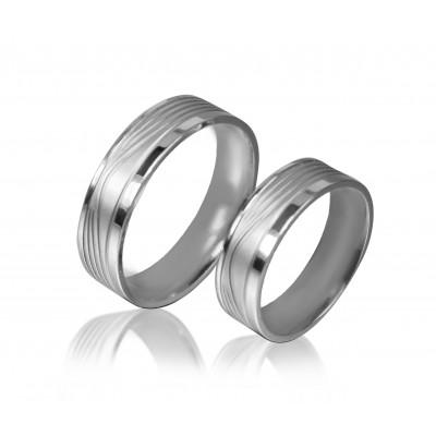 Широкие обручальные кольца V040