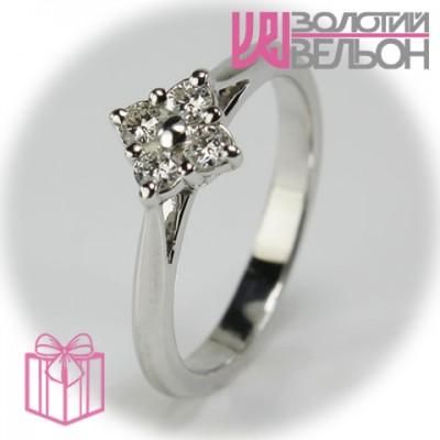 Золотое кольцо с бриллиантом 551-10072