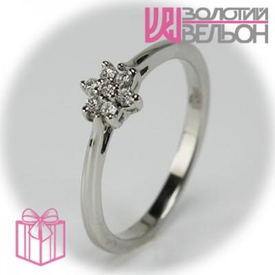 Золотое кольцо с бриллиантом 551-10087
