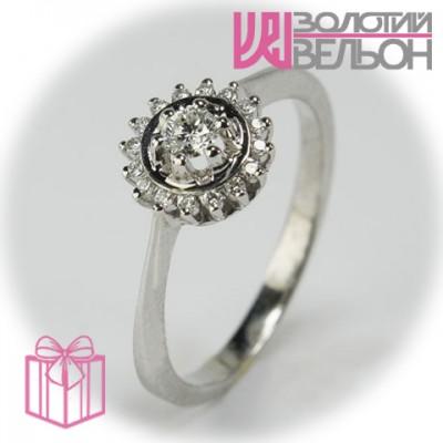 Золотое кольцо с бриллиантом 551-10113