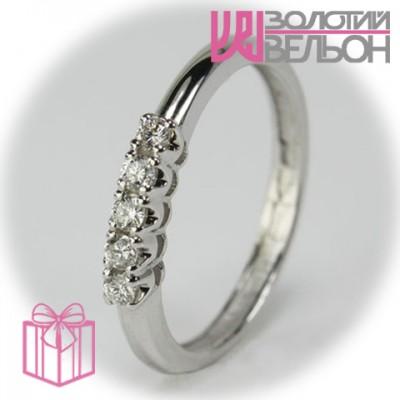Золотое кольцо с бриллиантом 551-101150