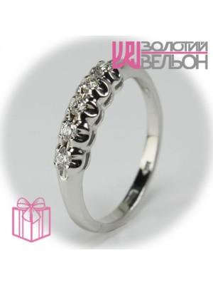 Золотое кольцо с бриллиантом 551-10148