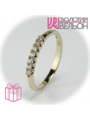 Золотое кольцо с бриллиантом 551-10149