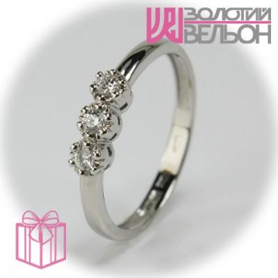 Золотое кольцо с бриллиантом 551-10152