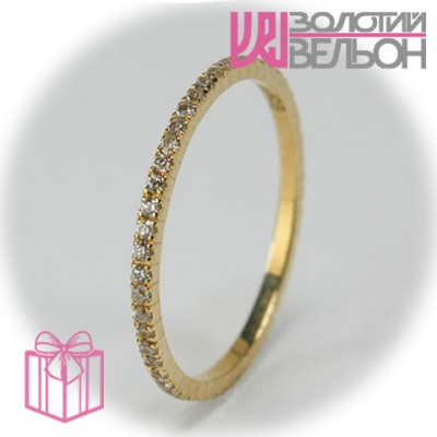 Золотое кольцо с бриллиантом 950-10701