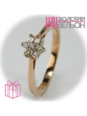 Gold ring with diamond 951-10087