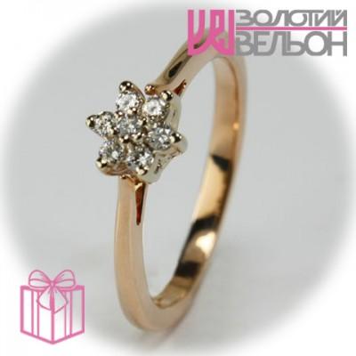 Золотое кольцо с бриллиантом 951-10087