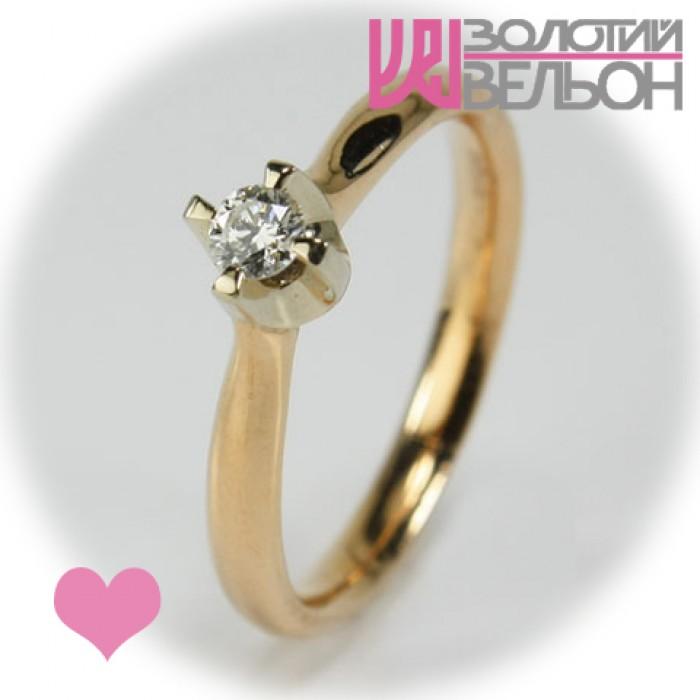 Золота каблучка для заручин з діамантом 451-10014 купить в ювелирном ... a616a64d7ae5a