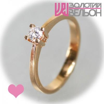 Помолвочное кольцо с бриллиантом 451-10018