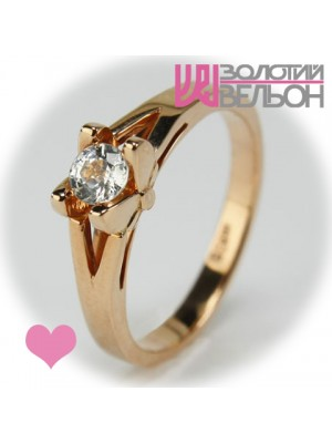 Gold engagement ring with sapphire 453-10027