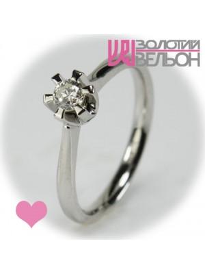 Помолвочное золотое кольцо с бриллиантом 451-10044
