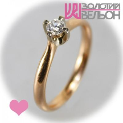 Кольцо для помовки с бриллиантом 451-10048