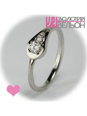 Помолвочное золотое кольцо с бриллиантом 551-10078