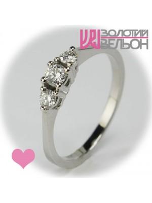 Помолвочное золотое кольцо с бриллиантом 551-10084