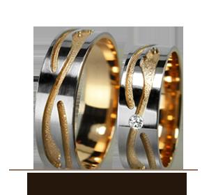 Авангардные обручальные кольца Золотой Вельон ТМ - интересный дизайн