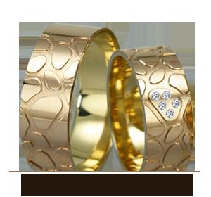 Фантазийные обручальные кольца Золотой Вельон ТМ - Ваша уникальность